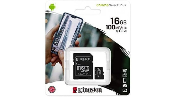 CARTE MICRO SD 16 GB KINGSTON