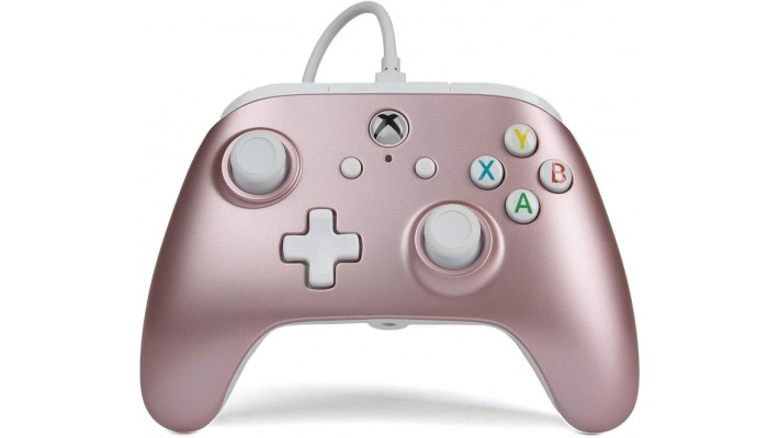 Manette Power A filaire pour Xbox One  Rose Or